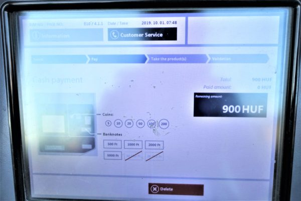 100Eエアポートシャトルバスのチケット購入方法
