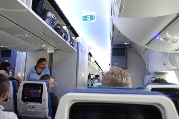 ポーランド航空の機内