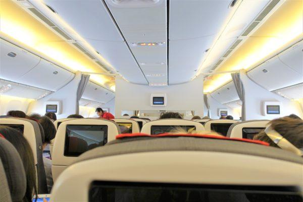オーストリア航空の機内