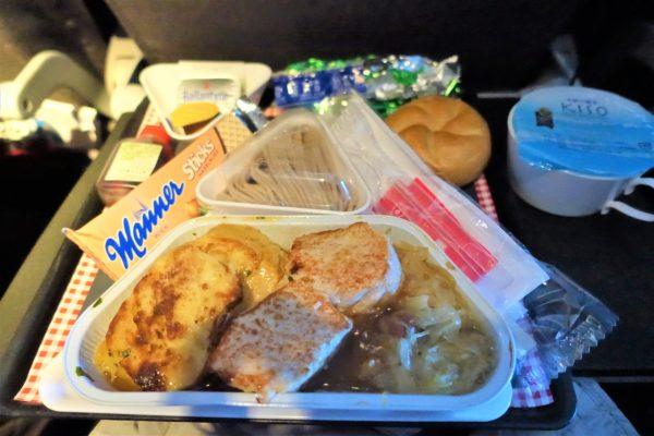 オーストリア航空のエコノミーの機内食