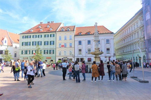 ブラチスラバのフラヴネー広場