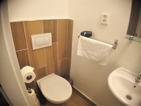 ブラチスラバのおすすめなホテル「エリザベスオールドタウン」の浴室