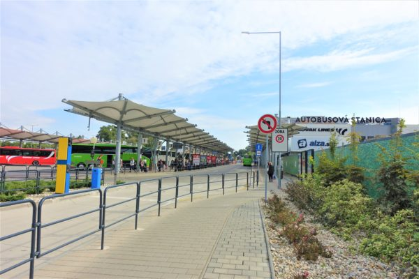 ブラチスラバのバスターミナル