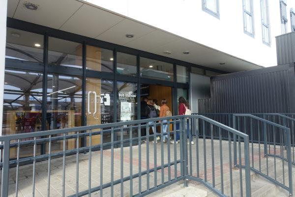ブラチスラバのバスターミナルの入口