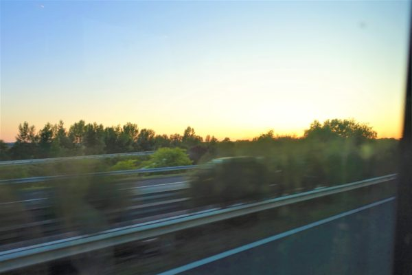 FlixBusの車窓