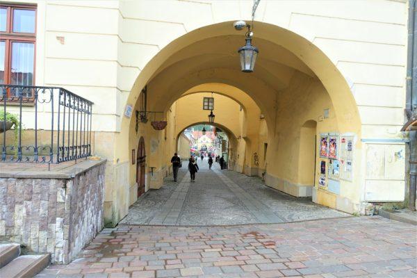 プレショフの旧市街のワイン博物館