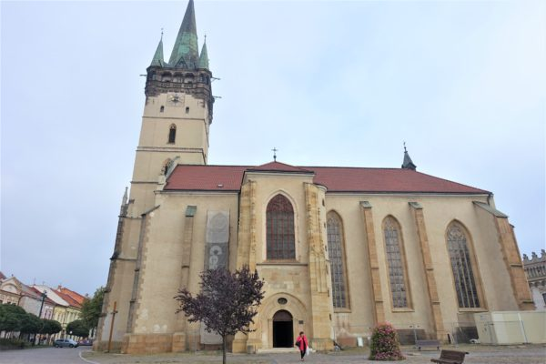 プレショフの旧市街の聖ミクラーシュ教会