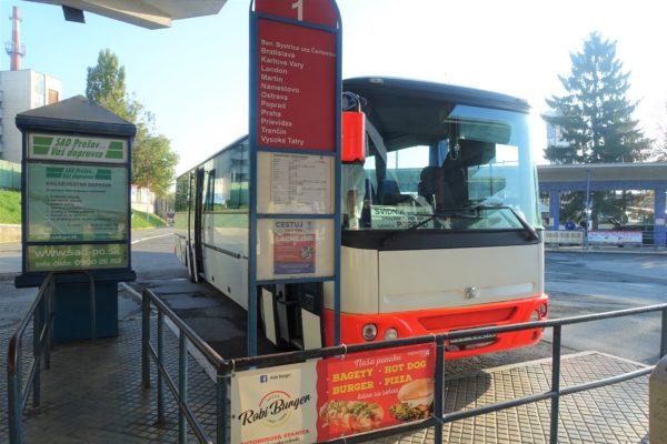 プレショフバスターミナルからスピシュ城へ出発