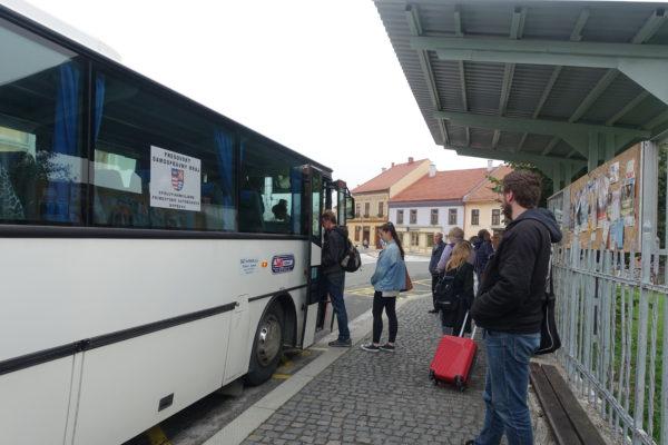 スピシュ城の最寄りのバス停Spišské Podhradie,,námの場所