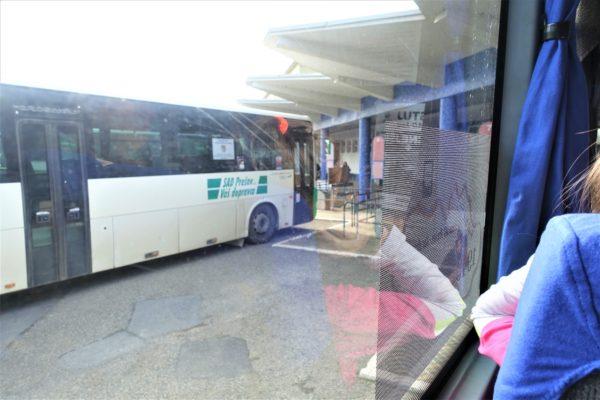 プレショフからバルデヨフにバスで向かう