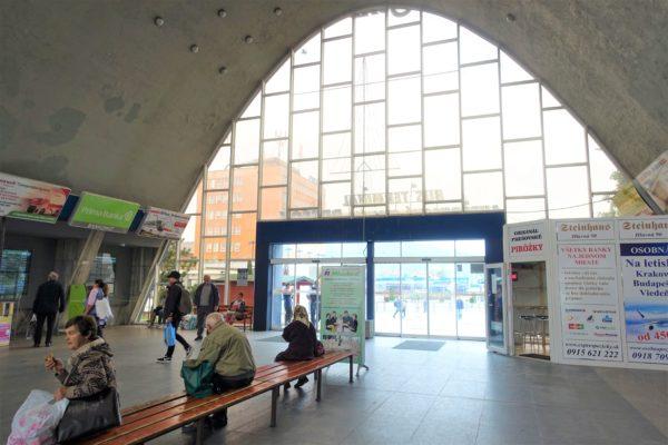 プレショフバスターミナルの待合室