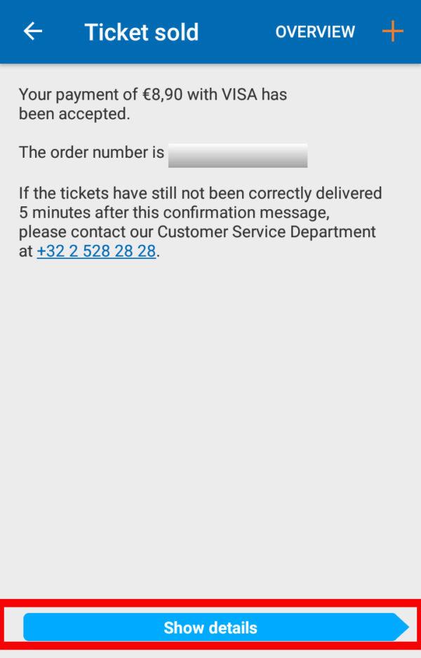 アプリを使ってベルギーの電車チケットを買う方法