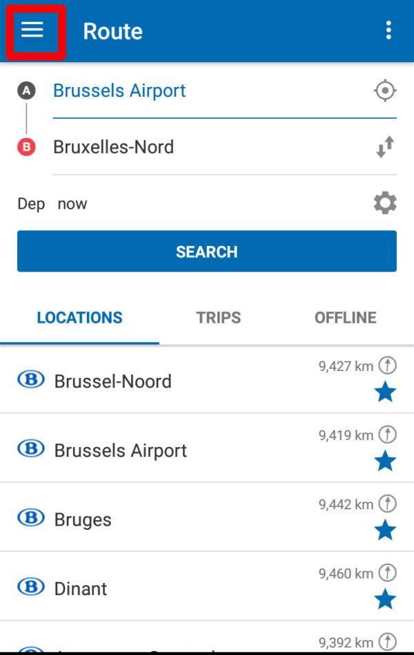 ベルギーの電車チケットをアプリで表示させる方法