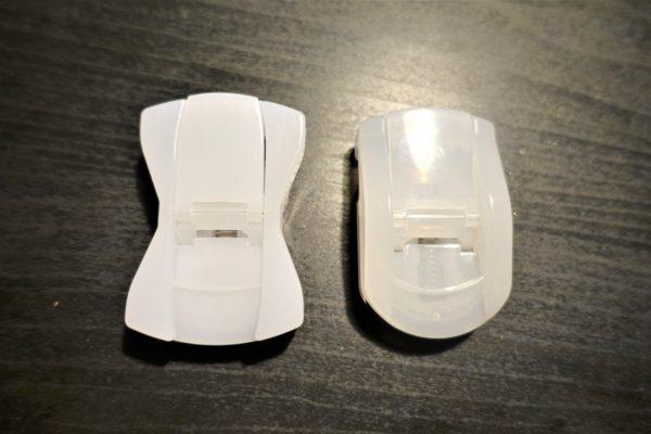 キャンドゥのコンパクトビューラーと無印良品の携帯用アイラッシュカーラーの比較