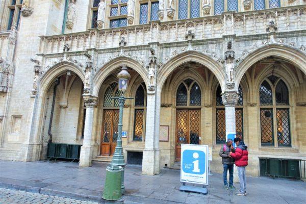 グランプラスの市庁舎内にあるブリュッセル観光案内所