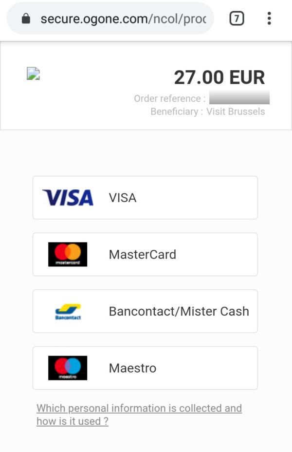 オンラインでブリュッセルカードを購入する方法