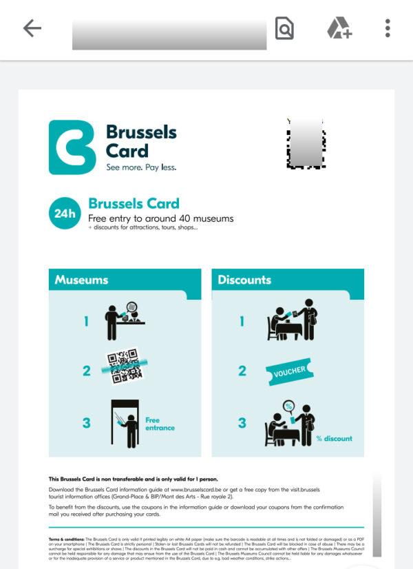 ブリュッセルカードの使い方