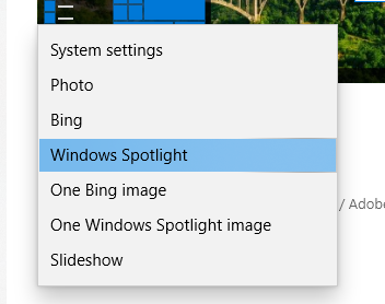 BingやWindows Spotlightの美しい写真を日替わりでデスクトップの壁紙にするDynamic Themeの設定方法