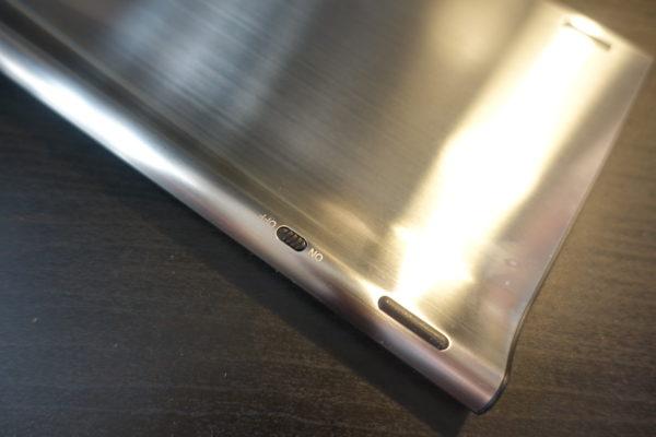Arteckのおしゃれな2.4GワイヤレスBluthoothキーボードの電源スイッチ