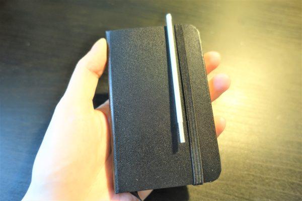 モレスキン風A7サイズのノートKORORUにぴったりな手帳用ボールペン