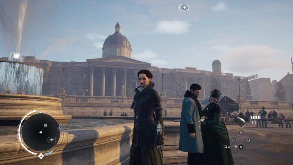 PS4アサシンクリード シンジケートのロンドン観光名所のナショナル・ギャラリーのキャプチャー
