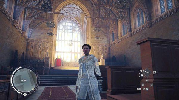 PS4アサシンクリード シンジケートのロンドン観光名所のウェストミンスター寺院の内部見学
