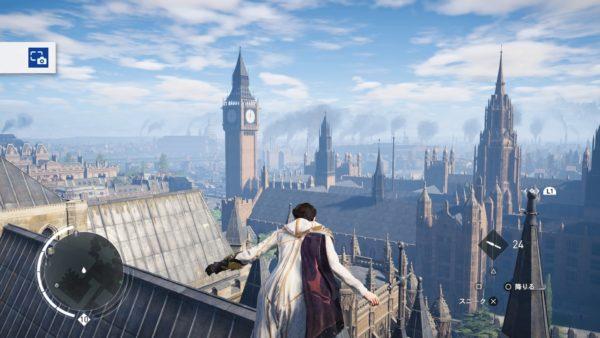 PS4アサシンクリード シンジケートでロンドン観光名所のビックベンに行く