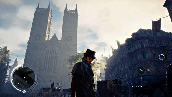 PS4アサシンクリード シンジケートのロンドン観光名所のウェストミンスター寺院に行く