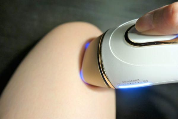 ブラウンの脱毛器 シルクエキスパートPro5の自動肌色検出
