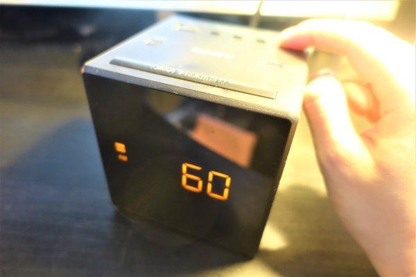 SONYのFM/AMクロックラジオICF−C1のスリープタイマー